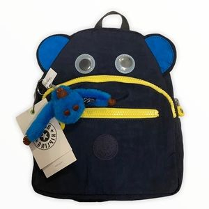 NWT Kipling Spark Navy and Yellow Mini Backpack